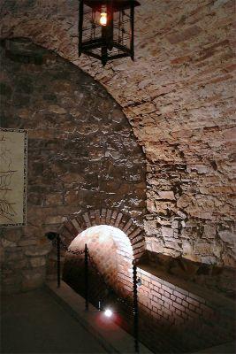 Opatów - jedna z komór trasy podziemnej