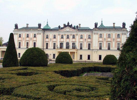 Pałac Branickich w Białymstoku -widok od strony ogrodu