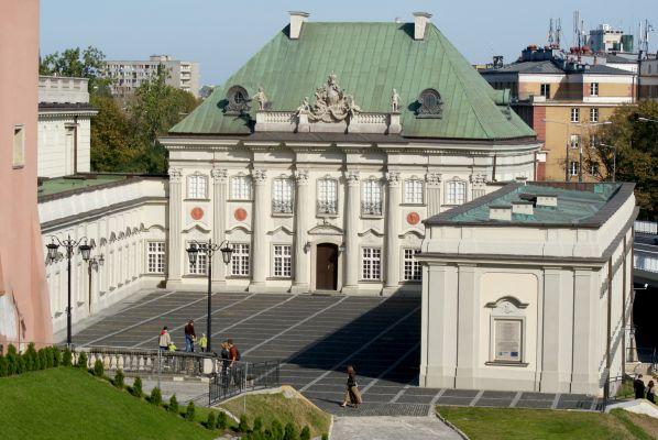Pałac Pod Blachą - widok z Krakowskiego Przedmieścia