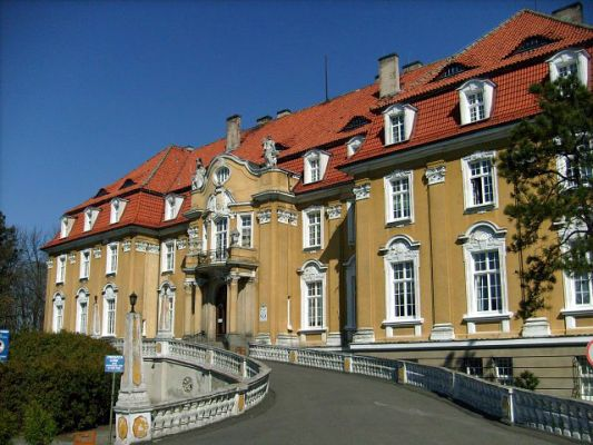 Pałac von Ballestrema w Kochcicach - od strony parku angielskiego