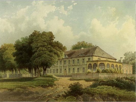 Pałac w Karścinie w XIXw