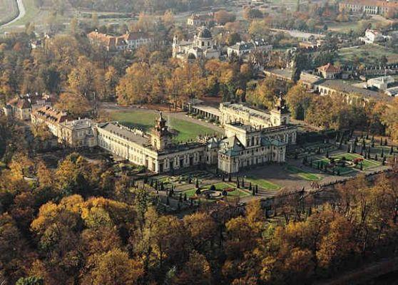 Pałac w Wilanowie z lotu ptaka