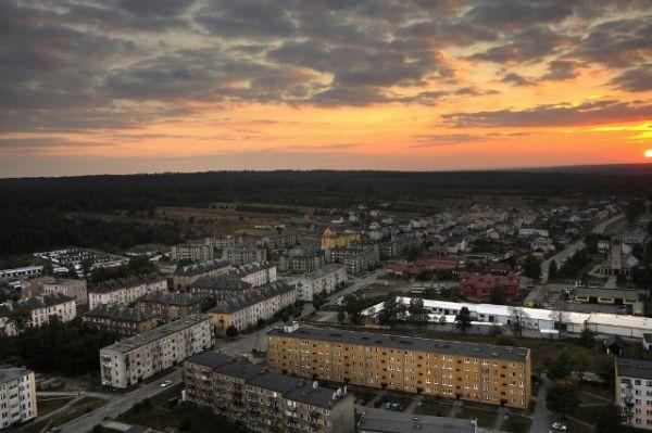 Panorama centrum Stąporkowa
