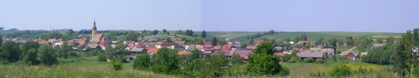 Panorama Łan, wioski w gminie Cisek