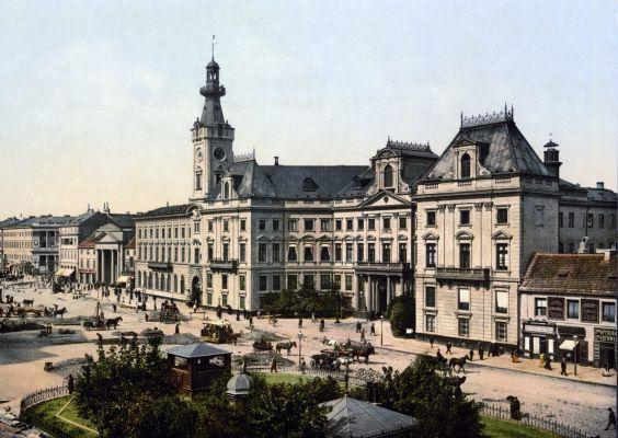 Plac Teatralny w Warszawie około roku 1900
