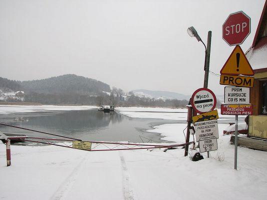 Prom na rzece Dunajec: między wioskami Tropie i Wytrzyszczka