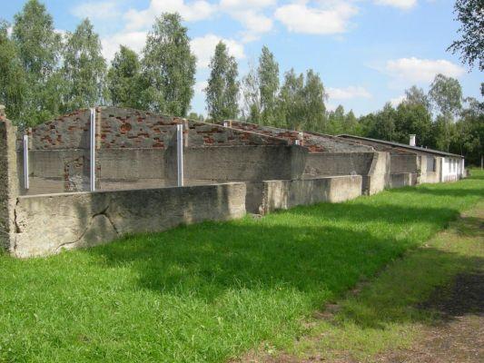 Ruiny baraków w Łambinowicach