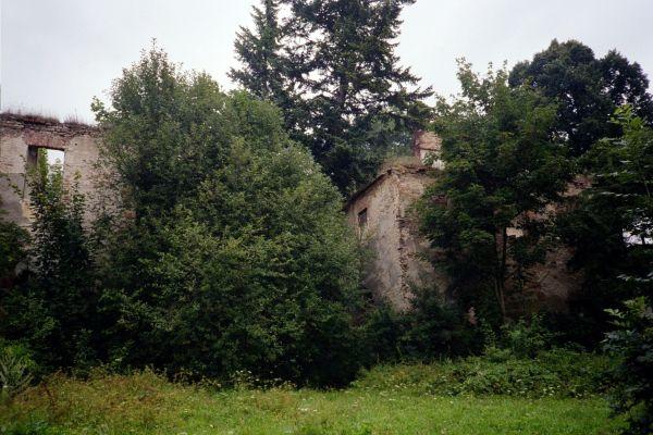 Ruiny dworu w Grodziszczu