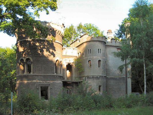 Ruiny pałacyku Wincklerów w Miechowicach