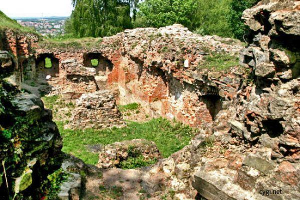 Ruiny zamku na Górze Św. Marcina w Tarnowie