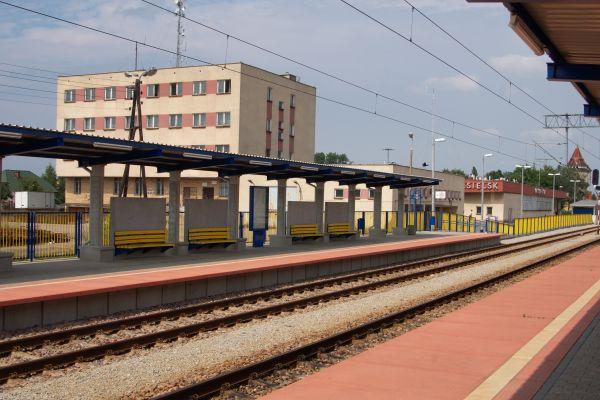 Stacja kolejowa Nasielsk widok na północ