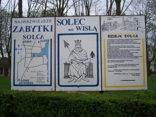 Tablica w parku w Solcu nad Wisłą