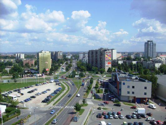 Typowa zabudowa Tychów - Rondo Lwowskie