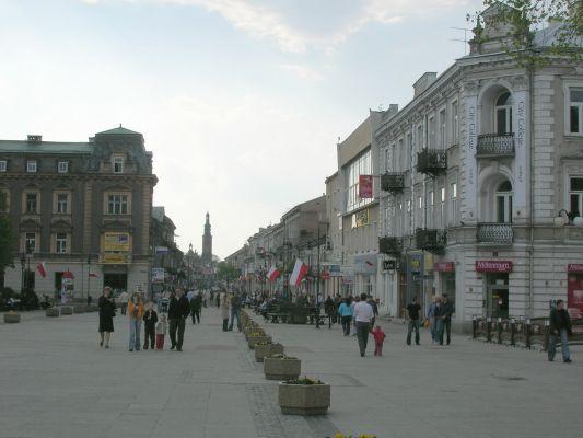 Ulica Żeromskiego w Radomiu - główny deptak miasta