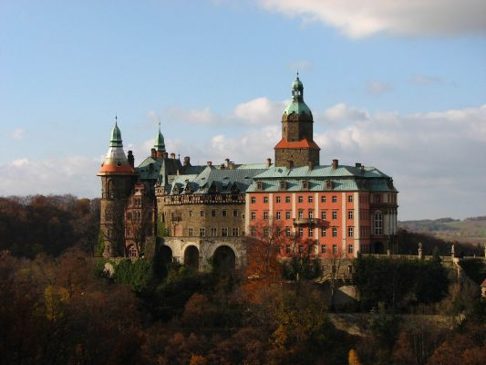 Zamek Książ jesienią