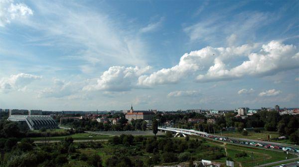 Widok na Rynek, Zamek Lubomirskich, Ratusz w Rzeszowie