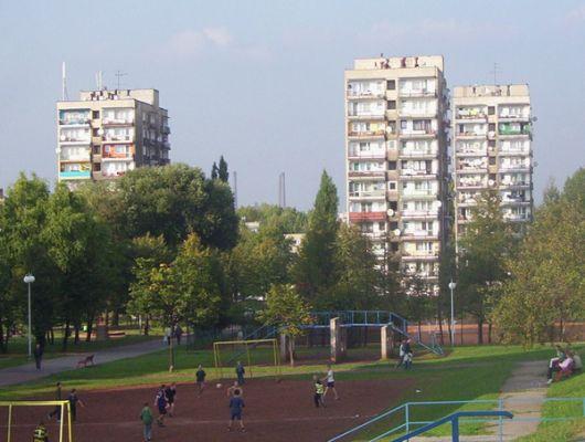 Wieżowce w dzielnicy Godula