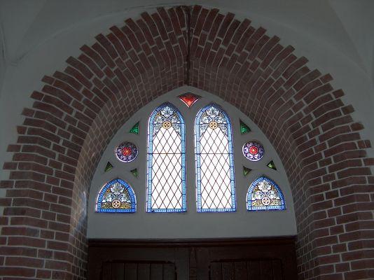 Witraże w portalu Kościoła Zbawiciela w Szopienicach