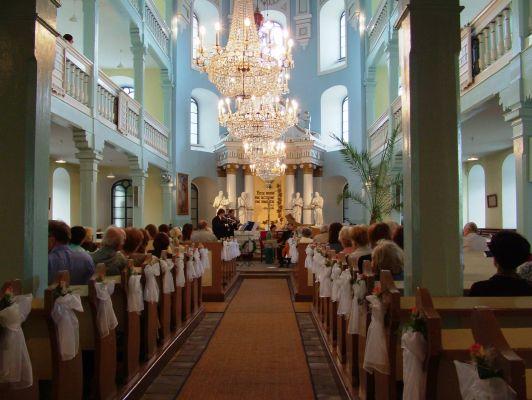 Wnętrze kościoła ewangelicko-augsburski w Starym Bielsku