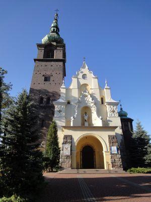 Kościół św.Antoniego w Wojkowicach (widok od strony ulicy Sobieskiego).