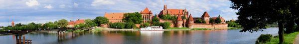 Zamek krzyżacki w Malborku - panorama