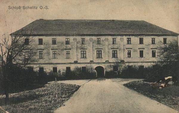 Zamek w Chrzelicach w 1925r