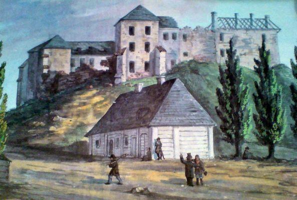 Zamek w Solcu nad Wisłą w XIX wieku