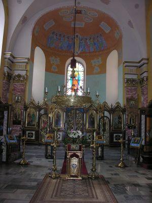 Wnętrze cerkwi św. św. Cyryla i Metodego we Wrocławiu