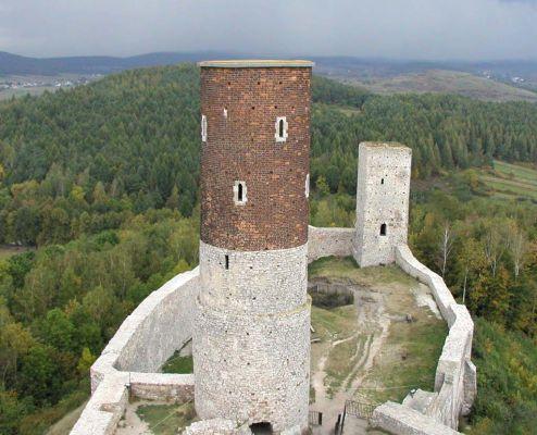 Ruiny zamku w Chęcinach - widok z wieży