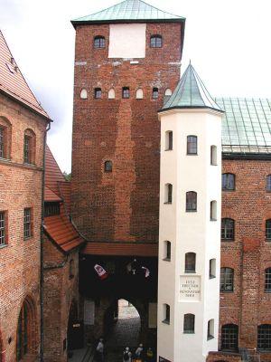 Zamek Książąt Pomorskich w Darłowie-dziedziniec
