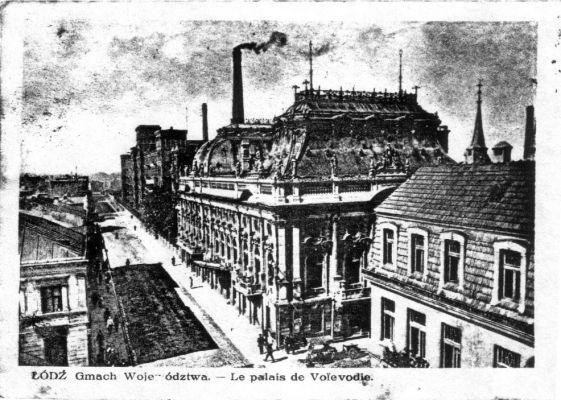 Pałac Poznańskiego - widok historyczny