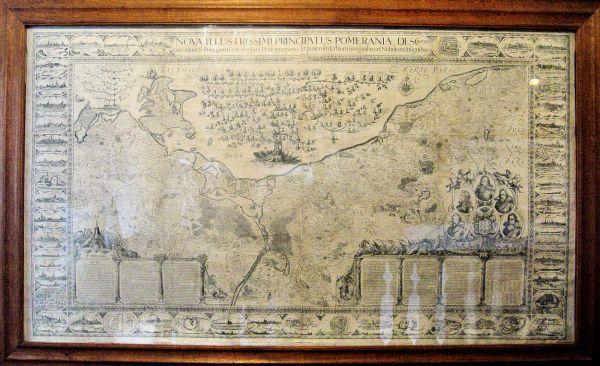 Mapa Pomorza, wystawa muzeum: Zamek Książąt Pomorskich, Darłowo