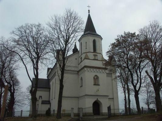 Neogotycki kościół w Brzyskach