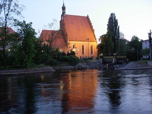 Katedra Bydgoska p.w. św. Marcina i Mikołaja (1466 r.) - widok o zmierzchu