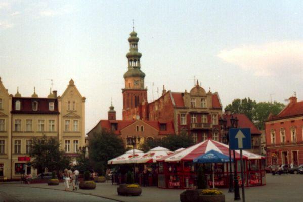 Rynek i konkatedra w Chełmży