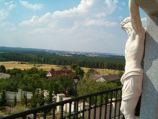 Widok z sanktuarium w Grodowcu