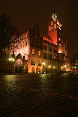 Ratusz Miejski w Słupsku - nocą