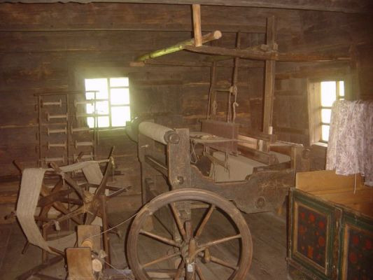 Górnośląski Park Etnograficzny - Wnętrze chałupy tkacza z Brennej