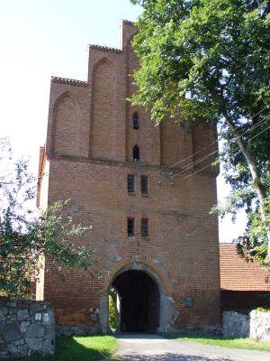 Zamek Bierzgłowski - główna wieża oraz brama zamku