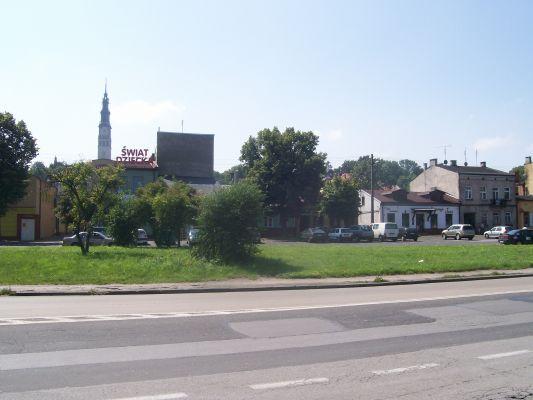 Fragment Ryneku Wieluńskiego w Częstochowie