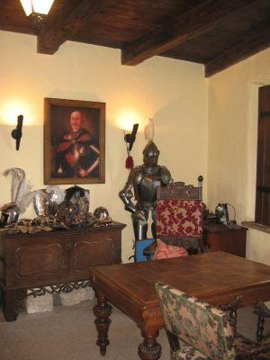 Zamek Bobolice - wnętrze kordegardy
