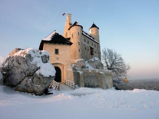Zamek Bobolice - zima 2010
