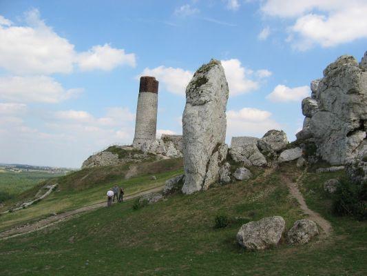 Cylindryczna wieża olsztyńskiego zamku