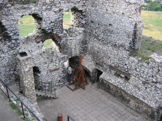 Ogrodzieniec - widok z pierwszego piętra