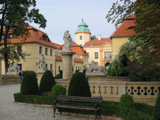Zamek Książ - widok na bramę