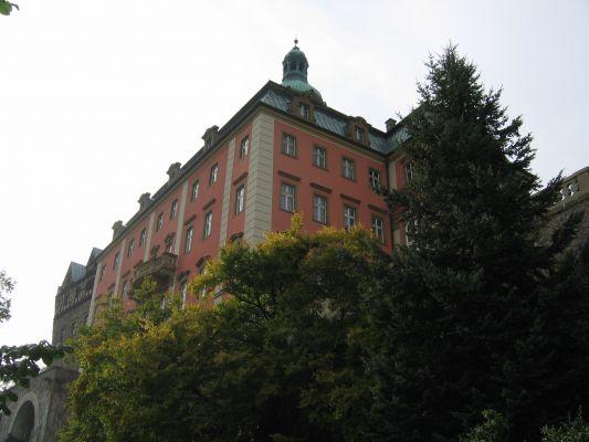Zamek Ksiąz - widok północno-wschodni