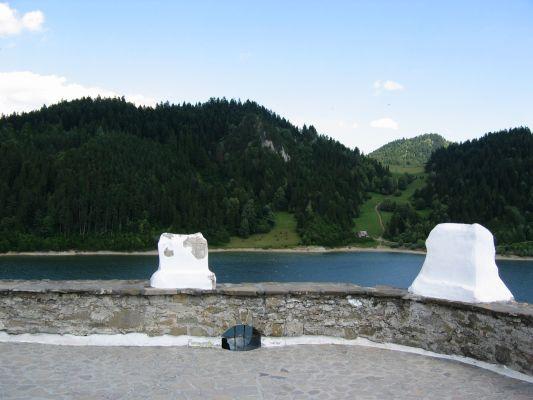 Zamek w Niedzicy - widok z górnego poziomu