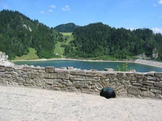 Zamek w Niedzicy - widok ze średniego poziomu