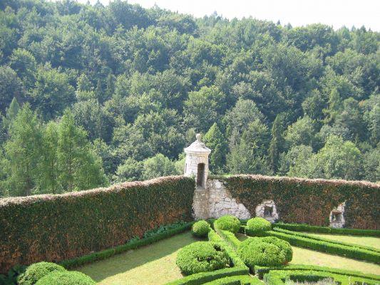 Zamek w Pieskowej Skale - ogrody