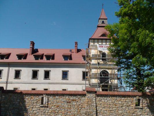 Zamek w Starych Tarnowicach - widok od drogi (pd)